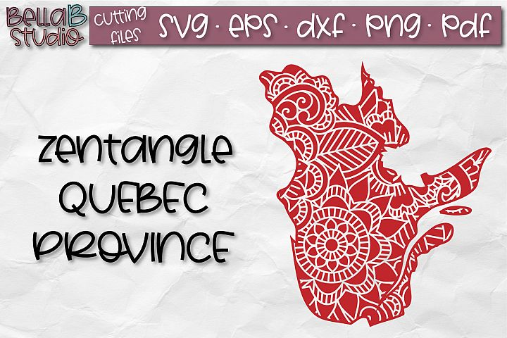 Zentangle SVG, Quebec SVG, SVG, Canada SVG, Canadian SVG