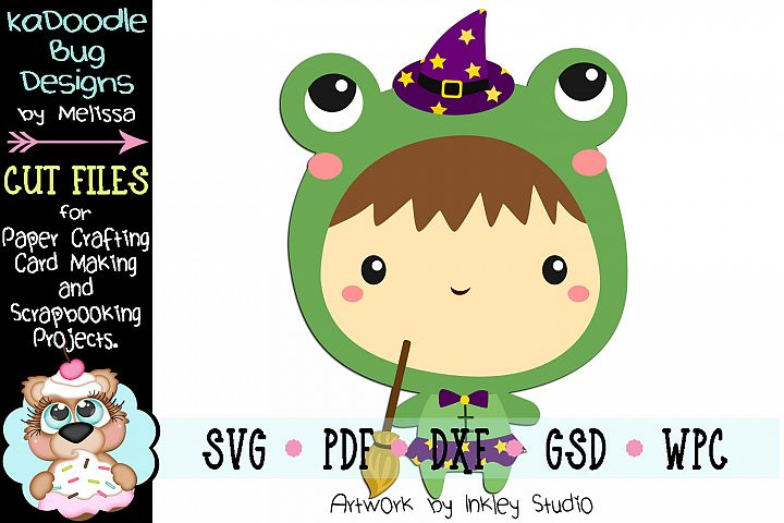 Halloween Frog Costume Cut File - SVG PDF DXF GSD WPC