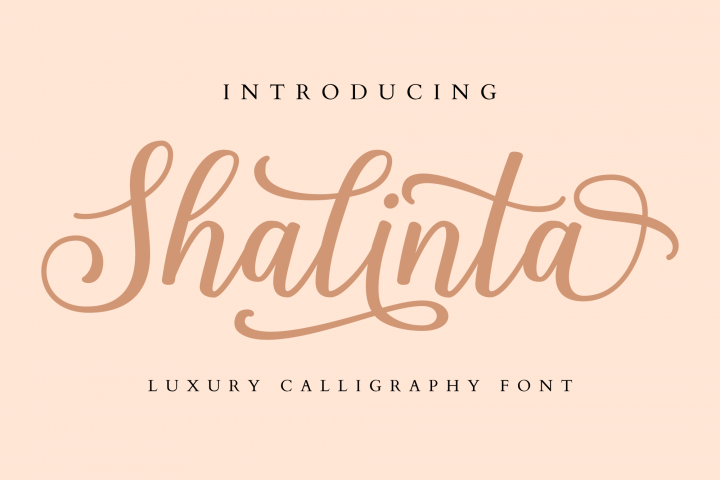 Shalinta - Luxury Calligraphy Font