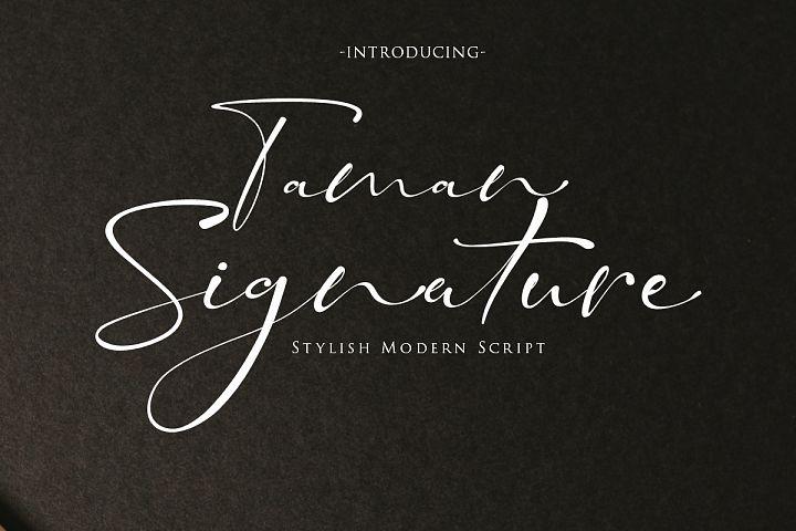 Taman Signature | Stylish Modern Script