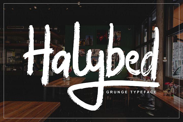 Halybed | Grunge Typeface Font