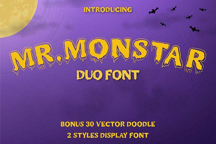 MR.MONSTAR Duo Font & Extras