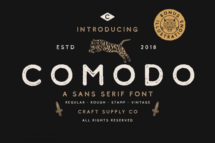 Comodo Font Family BONUS Illustrations