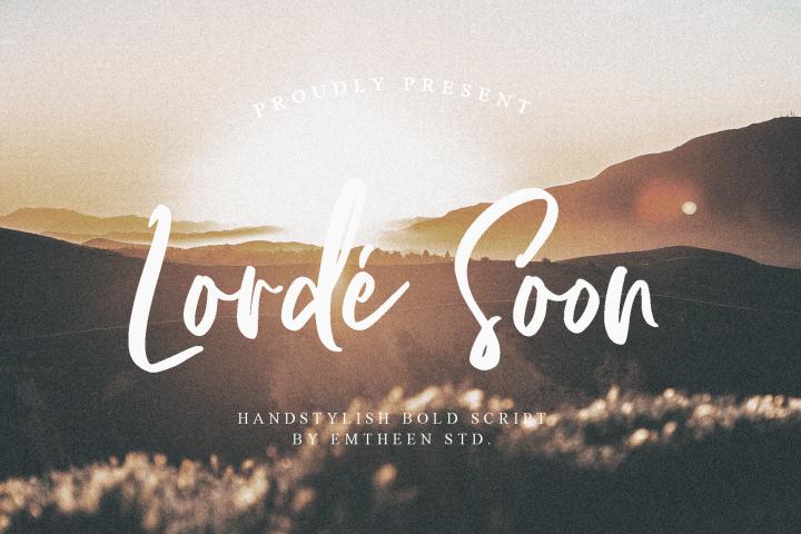 Lorde Soon - Elegant font