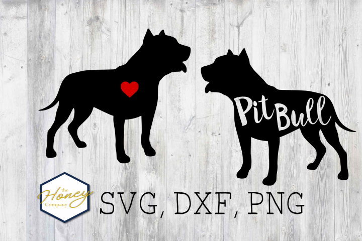 Pitbull SVG PNG DXF Dog Breed Lover Cut File Clipart