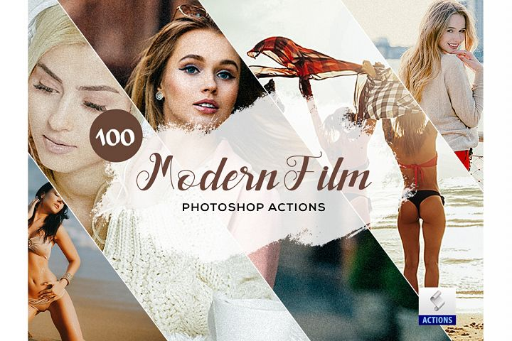 100 Modern Film Photoshop Actions