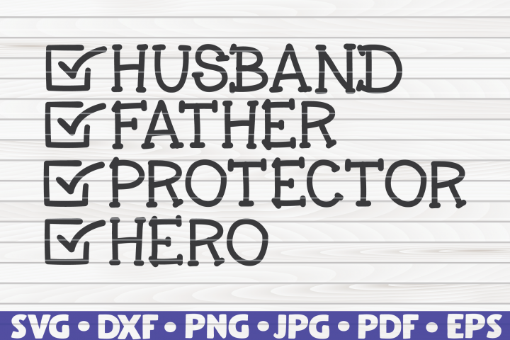 Father Checklist Wordart SVG | Fathers Day