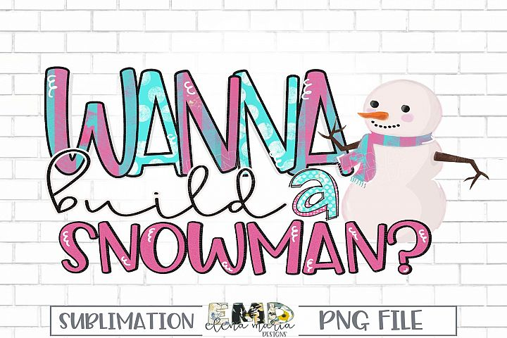 Christmas Snowman Sublimation Transfer Clipart