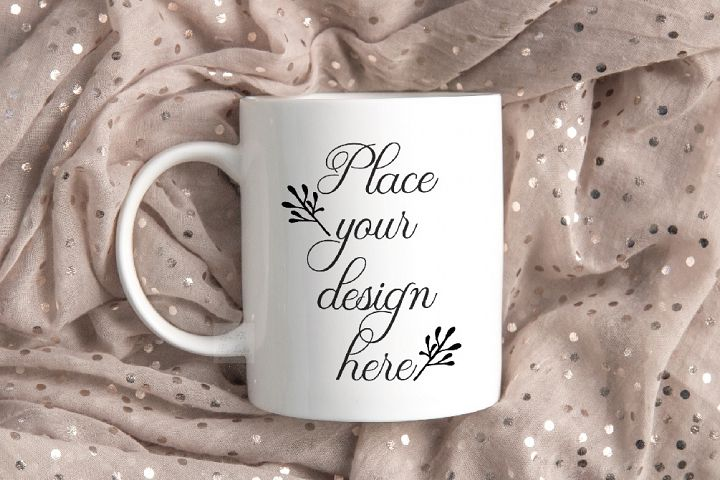 Mug mockup modern flatlay sublimation 11oz cup beige mock up