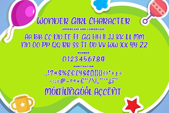 Wonder Girl - Cute Font example image 6
