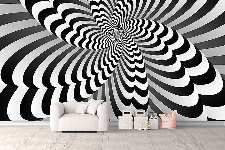 Abstract Optical Illusion Background Wallpaper