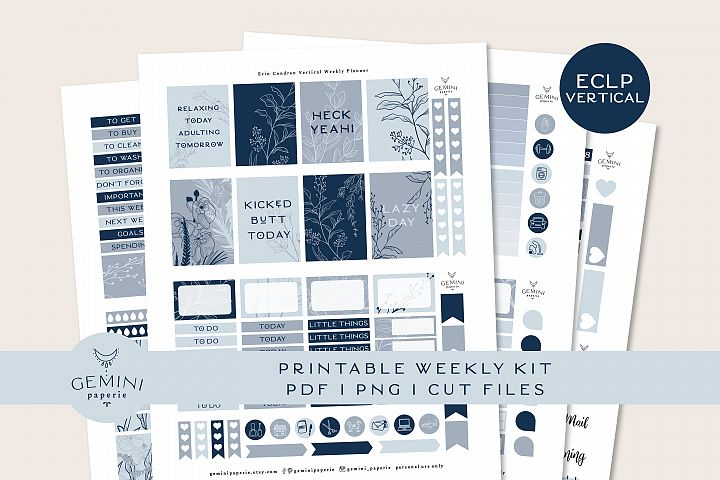 Printable Planner Stickers Weekly Kit for Erin Condren 2020