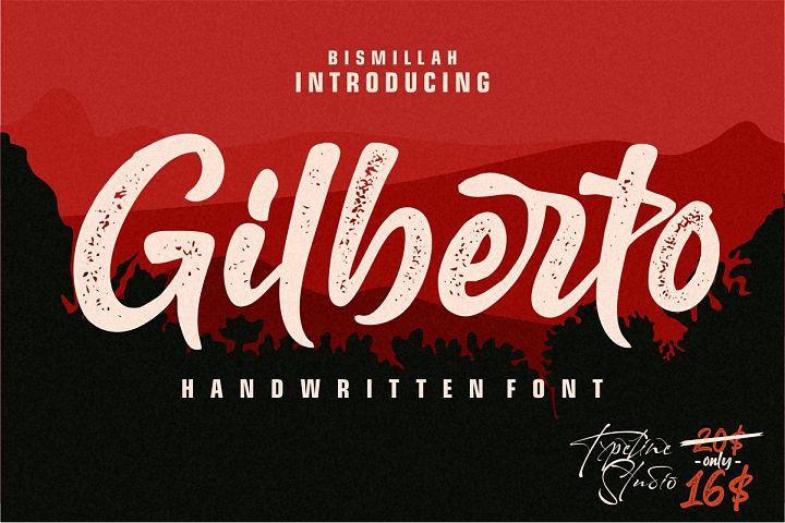 Gilberto letterpress script font