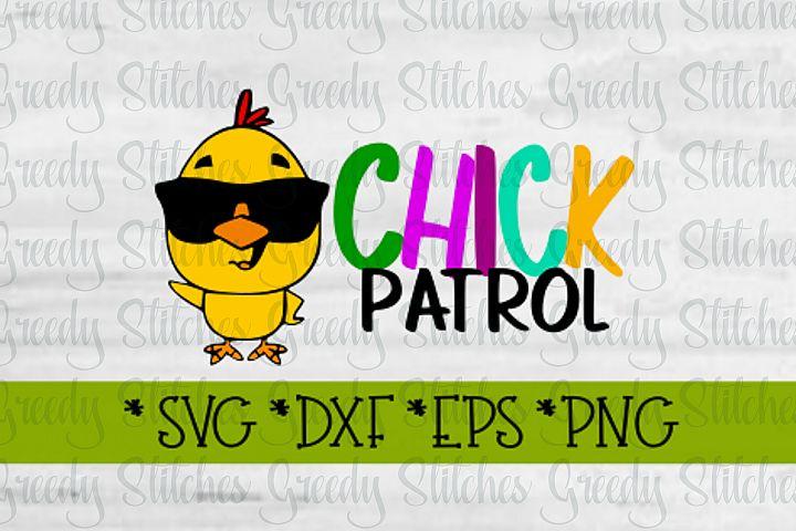 Easter, Chick Patrol SVG, DXF, EPS, PNG.