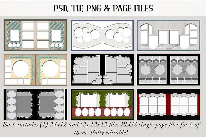 Digital Scrapbook Templates Bundle 3