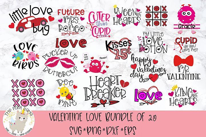 Valentine Love Bundle 20 SVG Cut Files