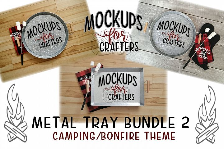 Round metal trays bundle - DOLLARAMA, Walmart, Bonfire