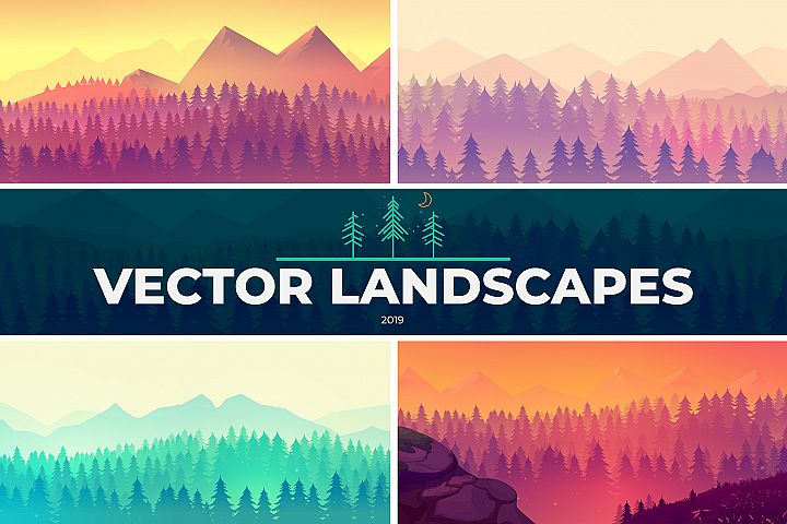 Trendy Vector Landscapes