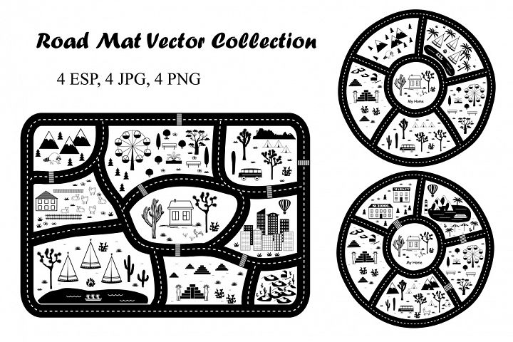 Road Play Mat Collection