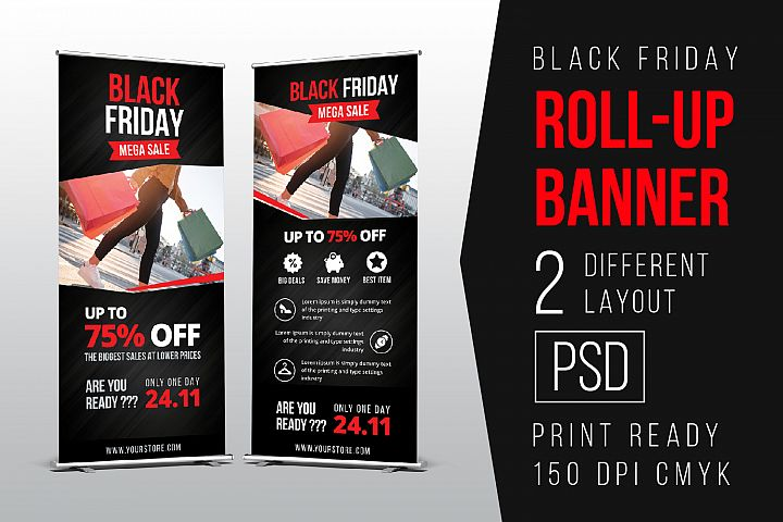 Black Friday Roll Up Banner