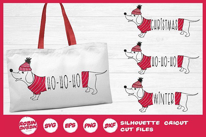 Christmas SVG - Funny Christmas Dog SVG- Dachshund Dog SVG