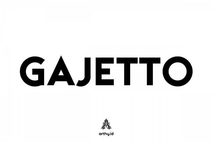Gajetto Dispay Font