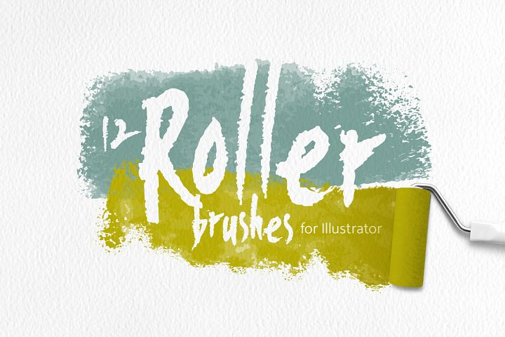 Roller Brushes for Illustrator
