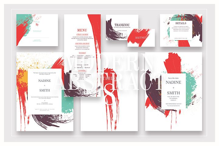 Modern Abstract Wedding Suite Ac.05