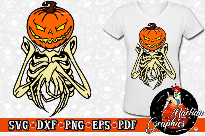 Halloween Pumpkin Bones Cut File