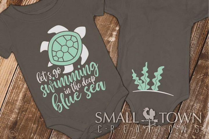 Sea Turtle, Ocean, Sea, baby outfit, SVG - more cut files