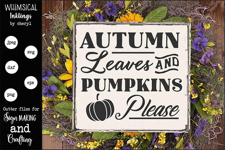 Autumn Leaves SVG