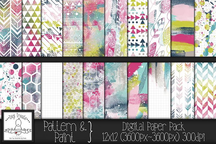 Pattern & Paint 12x12 Digital Paper Pack