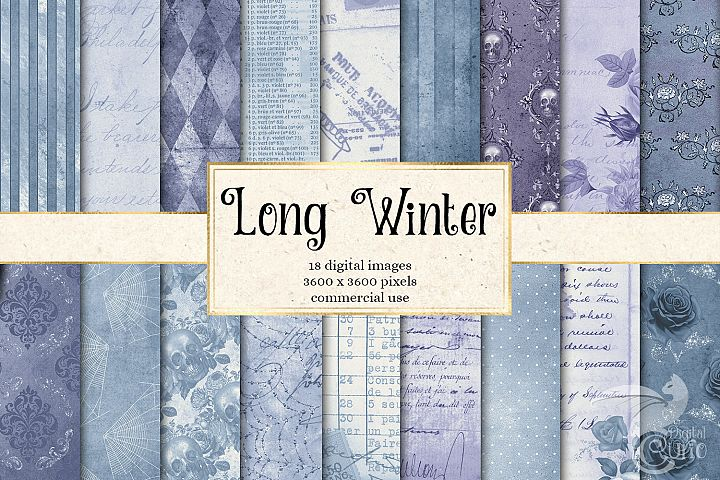 Long Winter Textures - Vintage Digital Paper