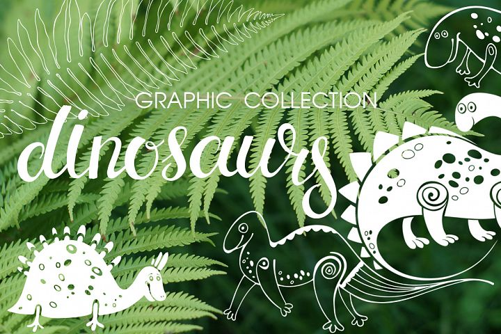 Dinosaurs. Graphic collection.