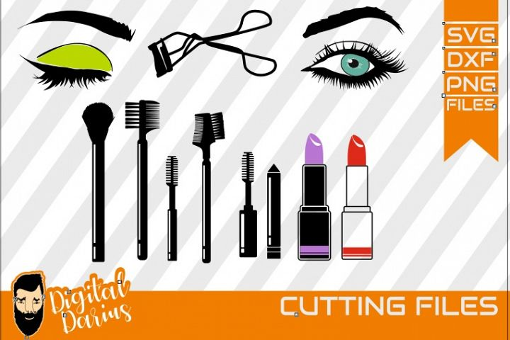 11x Make up svg, Mascara svg, Eyelash svg ,Eye, Lipstick