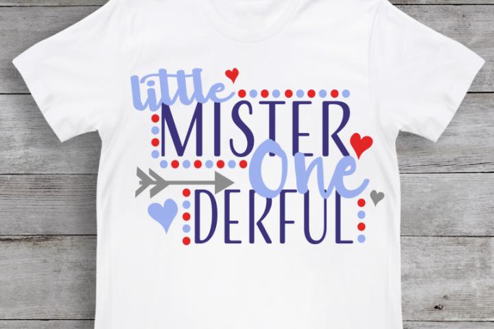 Little Mister One Derful SVG