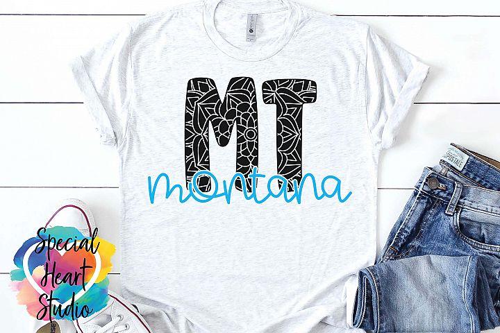 Montana Mandala - A State SVG Cut File