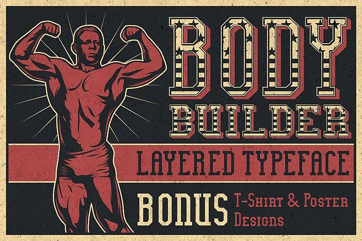 Bodybuilder Layered Font plus Bonus