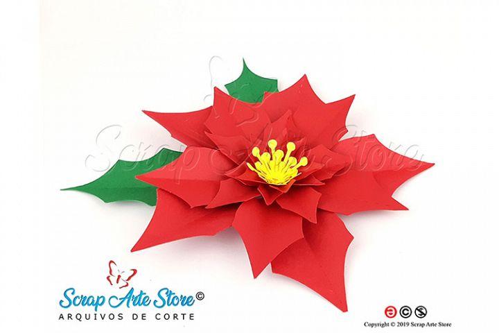 SVG Christmas Flower