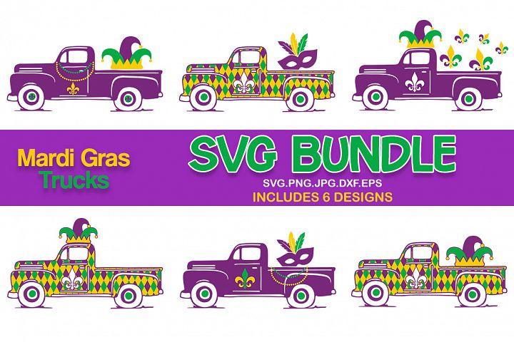 Mardi gras old truck svg bundle, mardi gras svg bundle