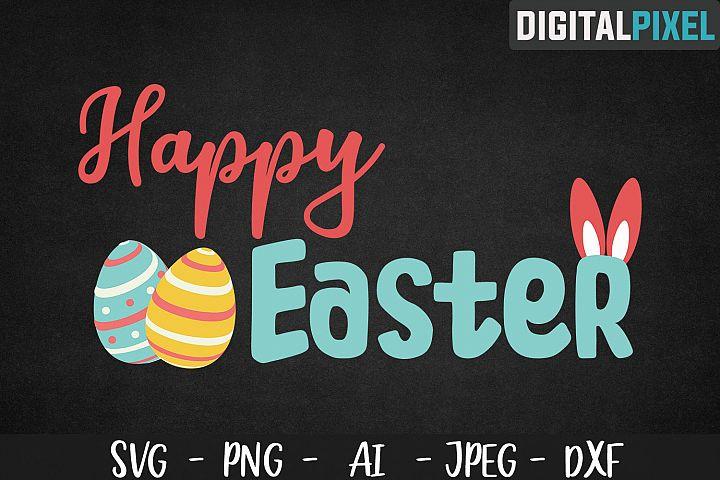 Happy Easter SVG, Easter SVG PNG DXF | Easter Crafters SVG