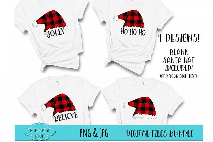 Ho Ho Ho Jolly and Believe Santa Hats Bundle Downloads