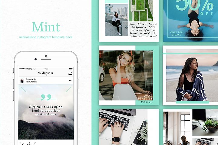 Mint | Instagram  stories templates