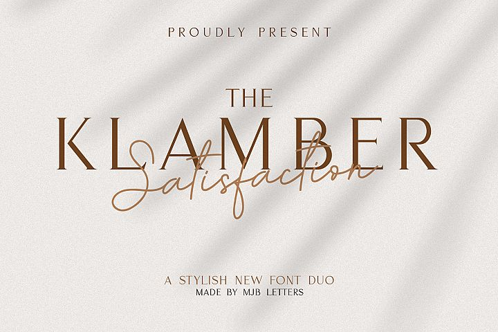 KLAMBER SATISFACTION // FONT DUO