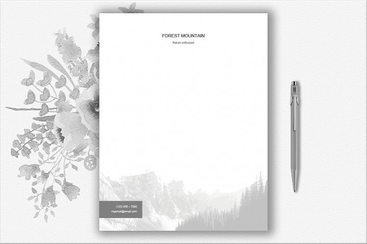 Mountains Letterhead Design Template