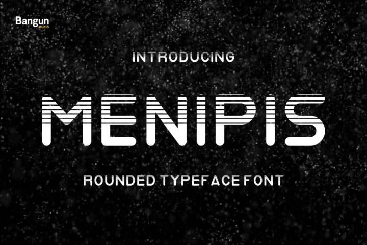 Menipis font