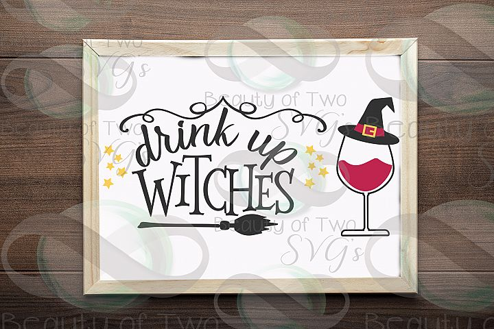 Halloween svg sign design, Drink up witches svg, wine svg