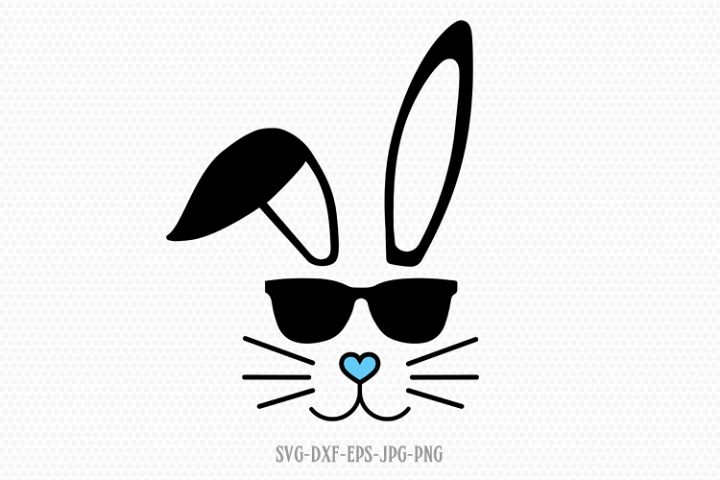 easter boy bunny svg