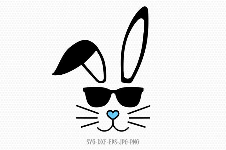 easter boy bunny svg