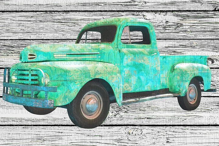 Vintage Truck Sublimation Digital Download